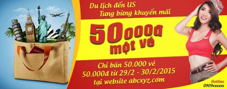 Thiết kế Banner quảng cáo cho du lịch cũng cần thể hiện đầy đủ thông tin