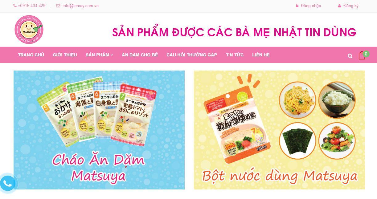 Website sức khỏe trẻ em Matsuya