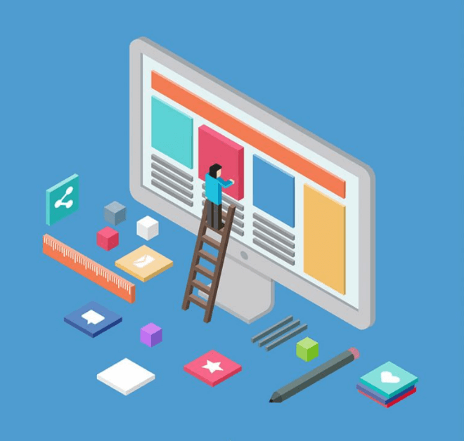 thiết kế cho website học trực tuyến.