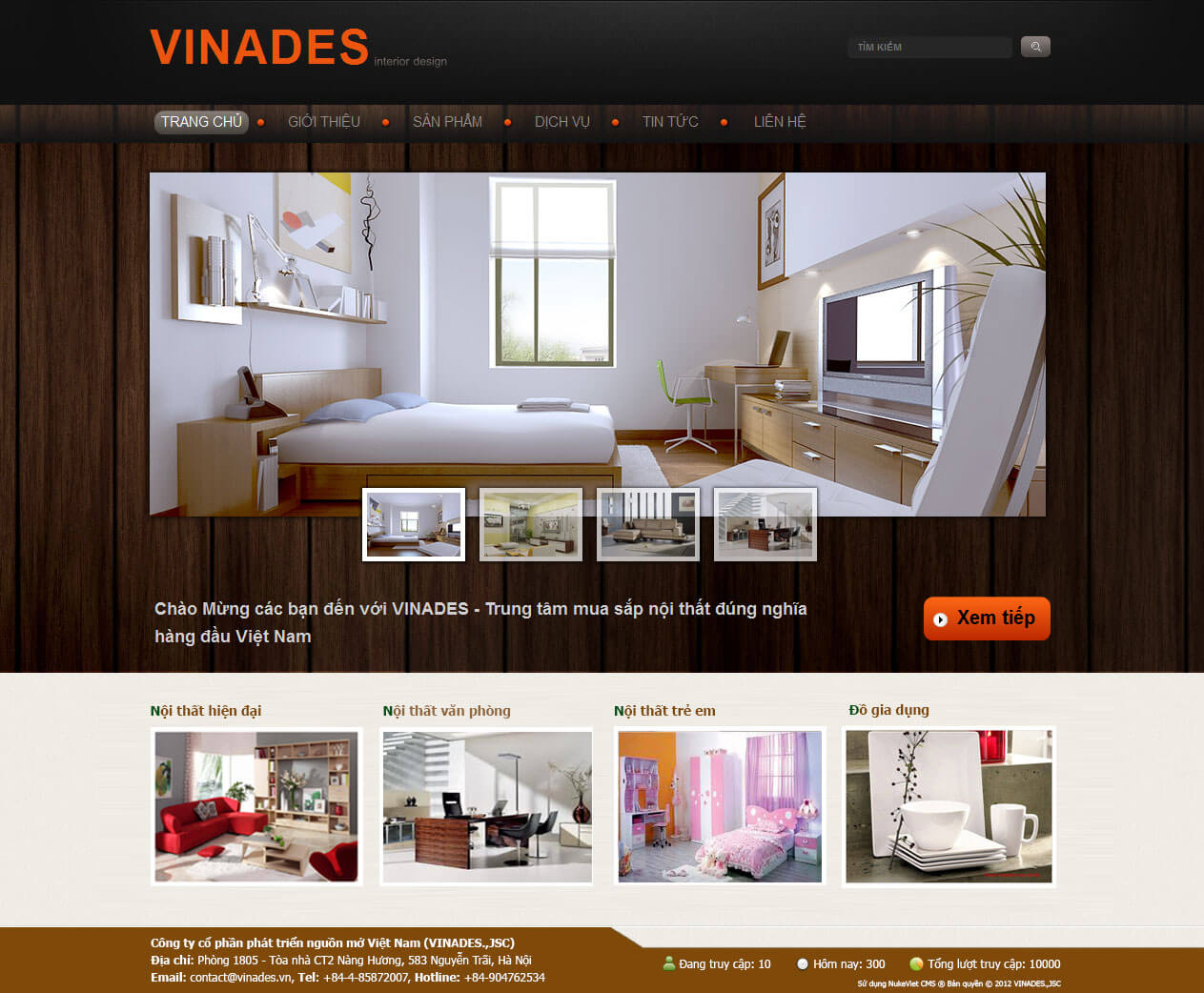 Khi thiết kế website nội thất cần chú ý đến phong cách trên website